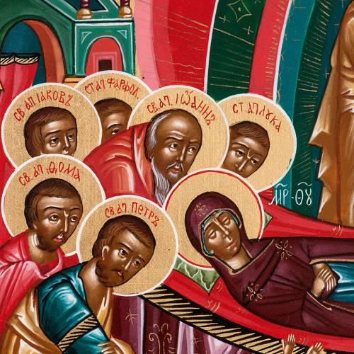 Icono sacro ruso Dormición de María 22 x 27 s5