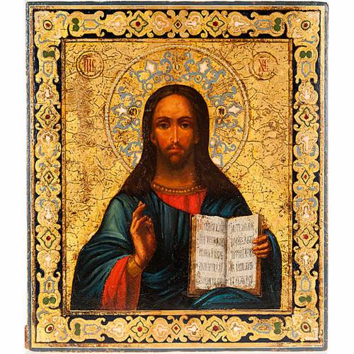 Ancient icon of Christ Pantocrator s1
