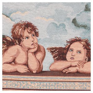 Angels of Raffaello tapestry with frame and hooks 50x40 cm s2