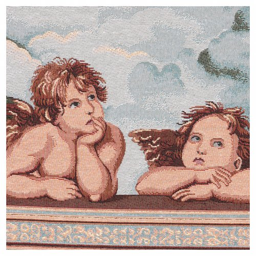 Angels of Raffaello tapestry with frame and hooks 50x40 cm 2