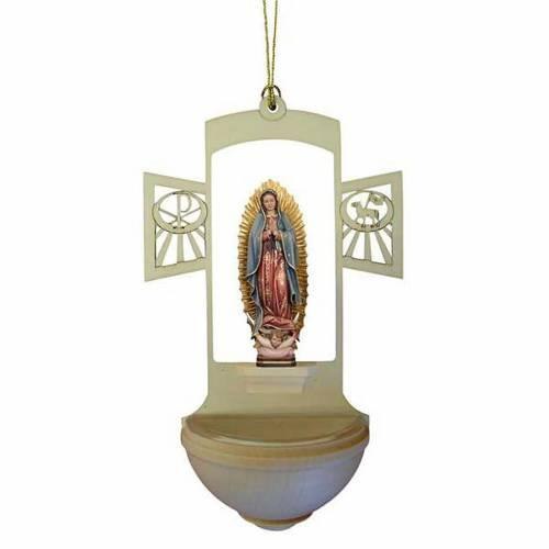 Acquasantiera legno Madonna di Guadalupe s1