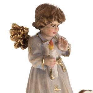 Addobbo di Natale angelo stelle con candela s5