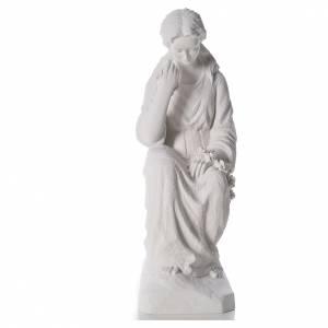 Statues en marbre reconstitué: Adolorée 80 cm poudre de marbre