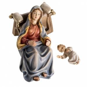 Adoration des Mages bois peint Val Gardena s10