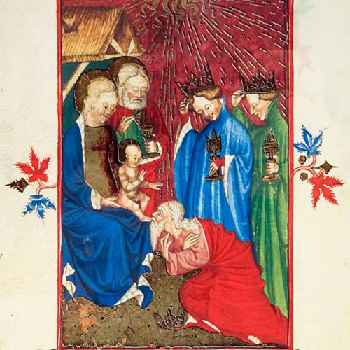 Adoration des rois mages, code miniature s2