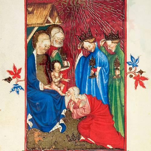 Adoration of the Magi illuminated manuscript s2