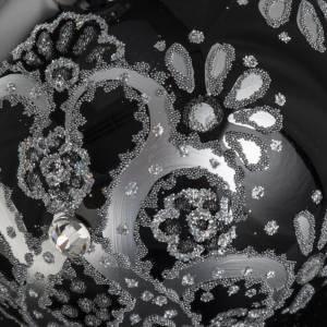Adorno árbol de Navidad vidrio transparente plateado 10 c s6