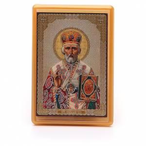 Magnets religieux: Aimant russe plexiglas Saint Nicolas 10x7 cm