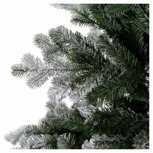 Albero di Natale 180 cm Poly floccato glitter Sheffield 5