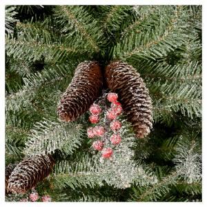 Albero di Natale 240 cm Slim con neve floccato bacche pigne Dunhill s3