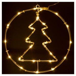Albero di Natale luminoso 24 micro  LED bianco caldo INTERNO batteria s2