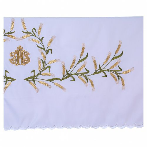 Altar Cloth 165x300cm Ears of Wheat, green & gold s3