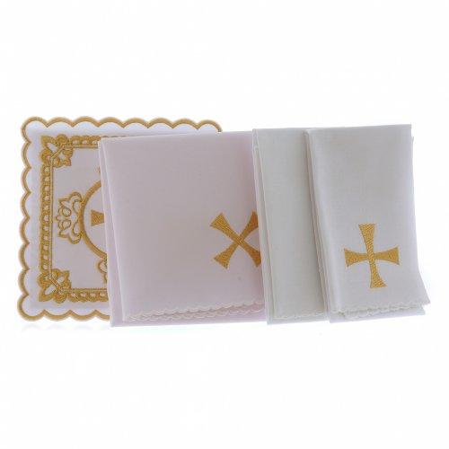 Altar linen cross, golden embroideries, cotton s2