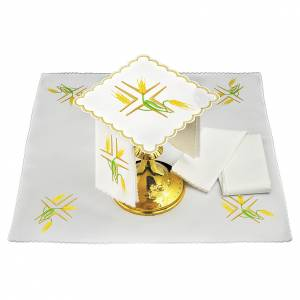 Altar linens: Altar linen yellow spikes and green stem