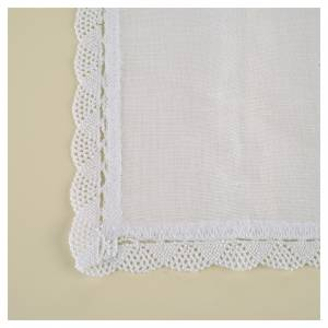 Altar linens, Corporal in linen and cotton, cross embroidery, 2 s3