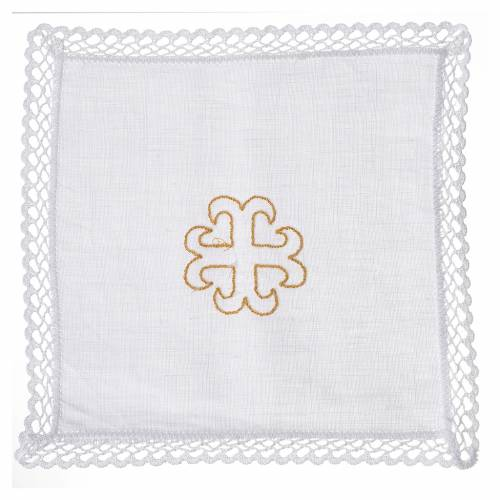 Altar linens with recercely cross, 100% linen s1
