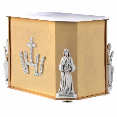 Altar tabernacle, gold Last Supper s4