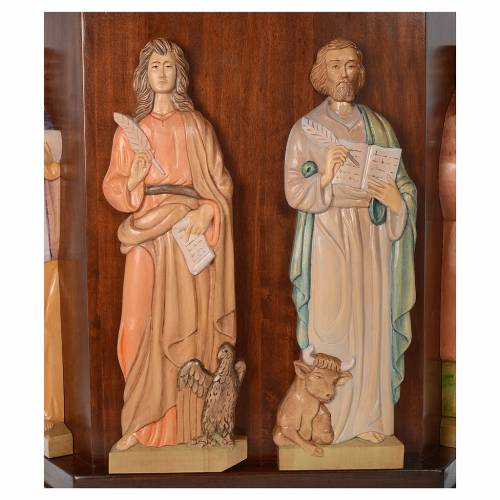 Ambo, hand carved with 4 evangelists in relief 130x90x45cm s5