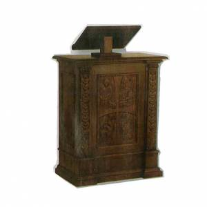 Atriles con columna: Ambón tallado a mano de madera maciza 126x85x45cm