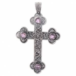 Croce pettorale Ametista e Argento 800 s1