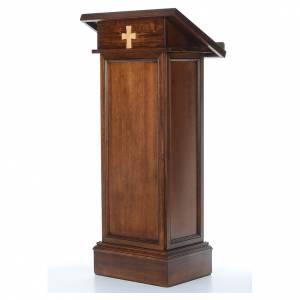 Amboni, inginocchiatoi, complementi d'arredo: Ambone modello Assisi legno di noce marrone