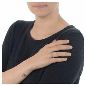 AMEN Beads Ring White silver 925, white zircons s3