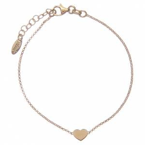 AMEN bracelets: AMEN Bracelet Heart silver 925 Gold finish