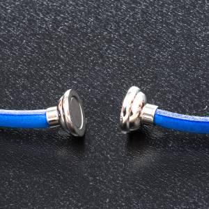 Amen Bracelet in blue leather Hail Mary FRA s2