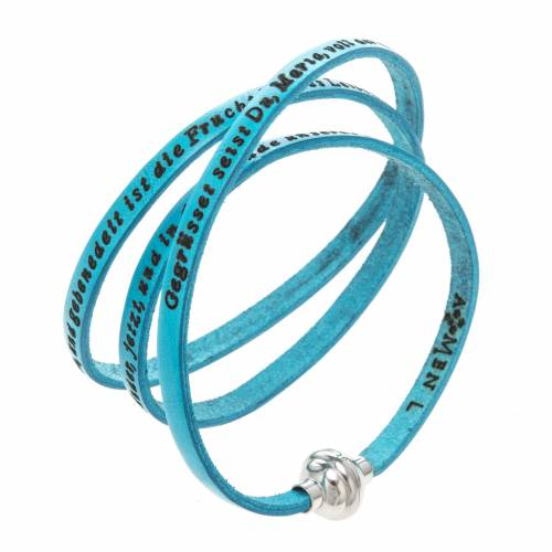 Amen Bracelet in turquoise leather Hail Mary GER s1