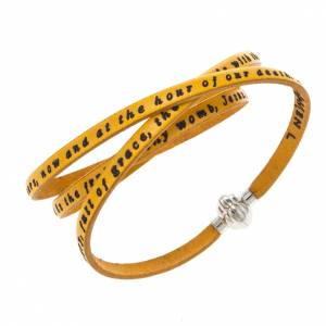 Amen Bracelet in yellow leather Hail Mary ENG s1