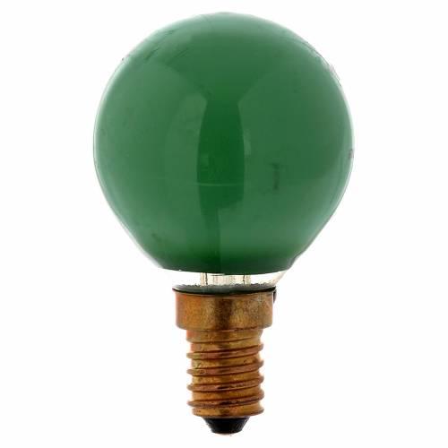 Ampoule 25W E14 vert illumination crèche noël s1