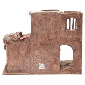 Ancienne bourgade avec cabane crèche 35x38x25 cm s4