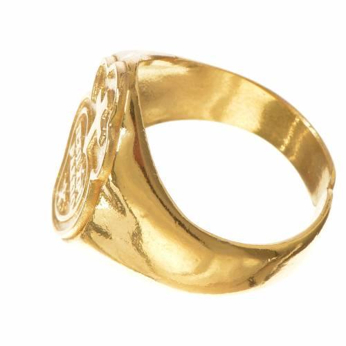Anello vescovile argento 800 dorato Passionisti s3