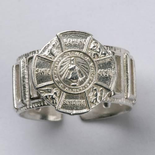 Anello vescovo argento 800 Gesù Bambino s4
