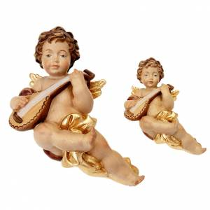 Christmas tree ornaments in wood and pvc: Angel with guitar