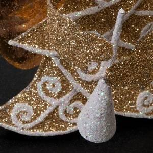 Angeli 4 pezzi glitter dorato decori natalizi s2