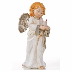 Anges debout 15 cm Fontanini 6 pcs type porcelaine s3