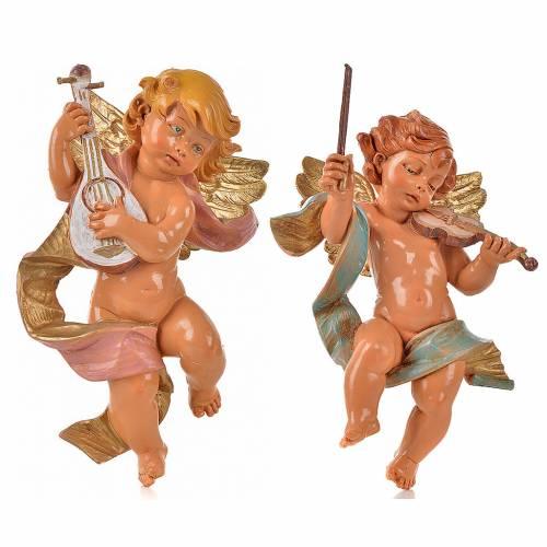 Anges musiciens 22 cm Fontanini 2 pcs s1