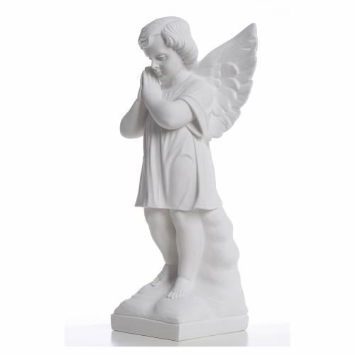 Angioletto mani giunte 40 cm polvere di marmo s2