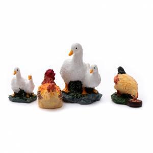 Animales para el pesebre: Animales 4 piezas resina pintada para belén 10 cm