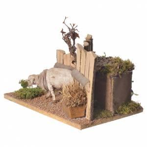 Animated Nativity scene 15cm sheep 15x15x15cm s2