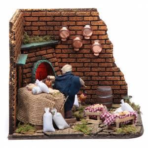 Animated nativity scene, baker with bread 10 cm s1