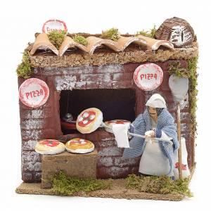 Animated nativity scene figurine, 6 cm pizza maker s1