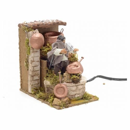 Animated nativity scene figurine, 6 cm tinsmith s3