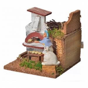 Animated nativity scene figurine, baker, 10 cm s3