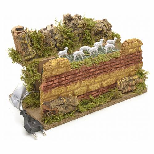 Animated nativity scene figurine, moving herd 25 x 14cm s2