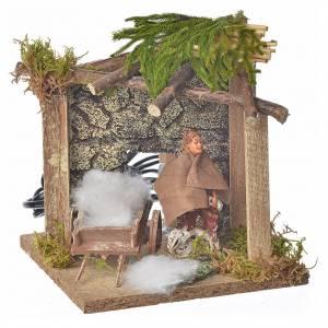 Animated nativity scene figurine, sheep shearer, 10 cm s1