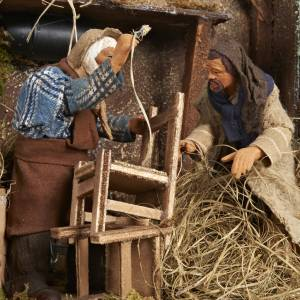 Animated Nativity scene set, chair repairmen 12 cm s2
