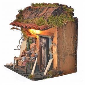 Animated Neapolitan nativity figurine, carpenter 10cm s3