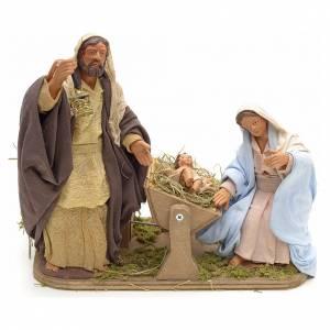Neapolitan Nativity Scene: Animated Neapolitan Nativity set, 14 cm